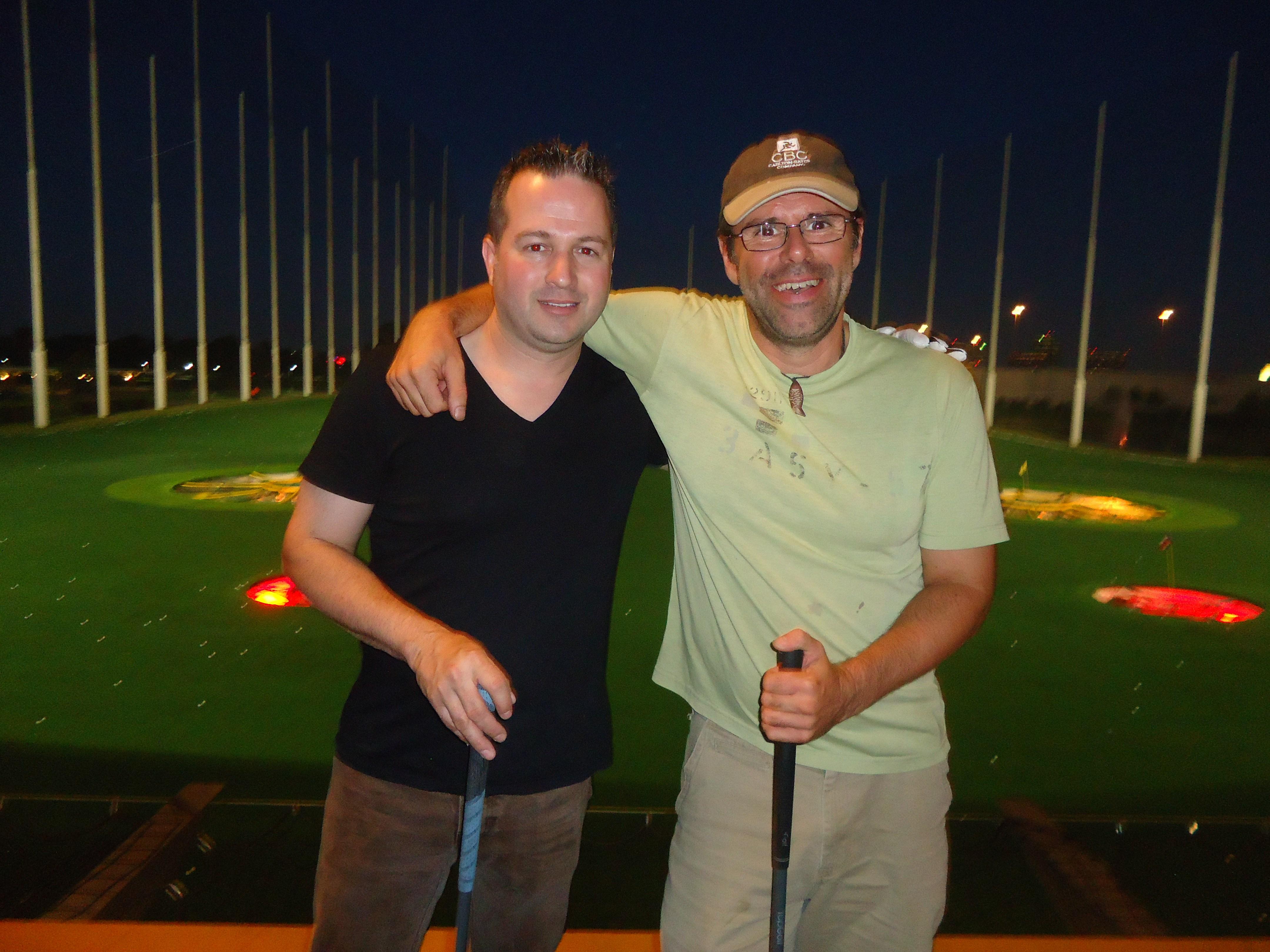 Brad & Ian - golfing buddies!