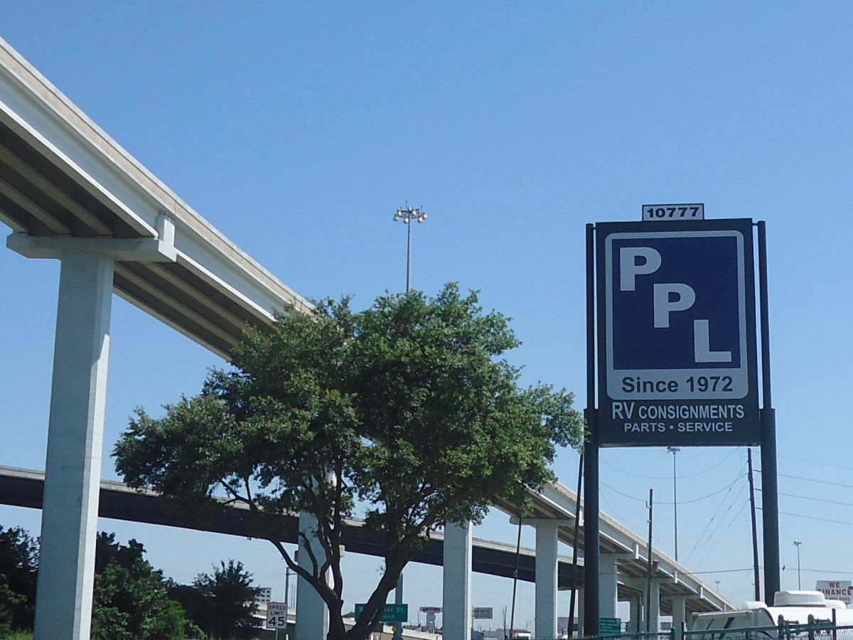 PPL sits below the towering Texan flyovers