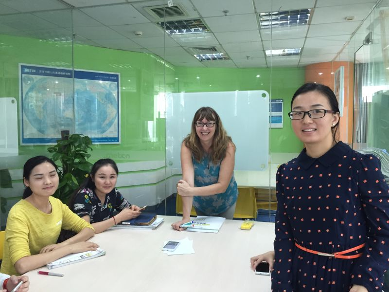 Classroom teaching at a private language school in Shenzhen