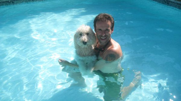 Bonnie takes a refreshing dip on a hot July afternoon in Long Island, New York
