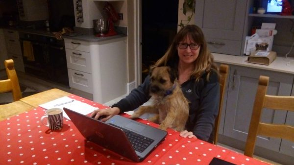 """Hamish helps Vanessa prepare content for Issue 1 of """"House Sitting Magazine"""""""