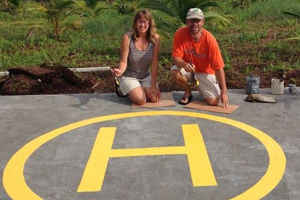 Painting the Helipad
