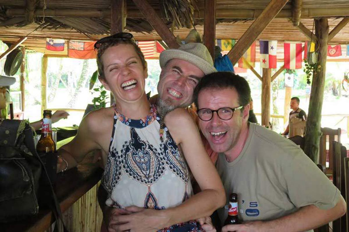 Ian catches up with old friends at Rana Azul restaurant