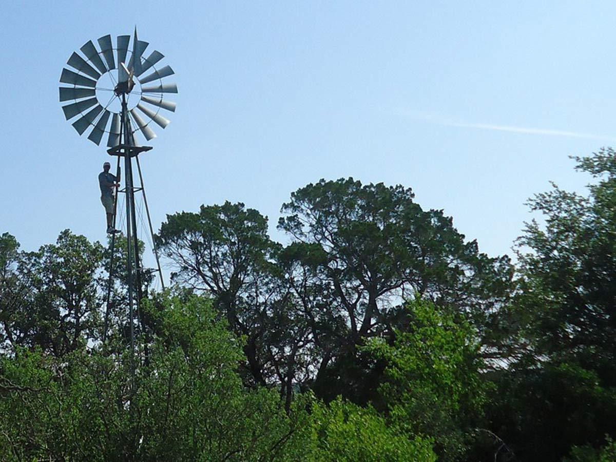 Ian on the windmill